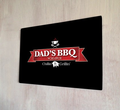 Dad's BBQ metal sign