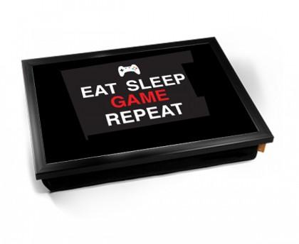 Eat sleep game repeat lap tray