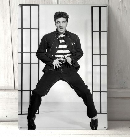 Elvis Presley Jail House Rock Vintage Sign