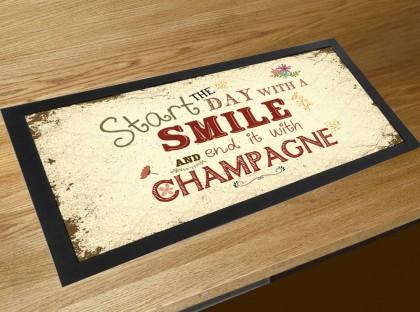 Vintage Champagne quote retro bar runner