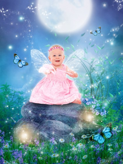 'Butterfly Meadow' fairytale photo art