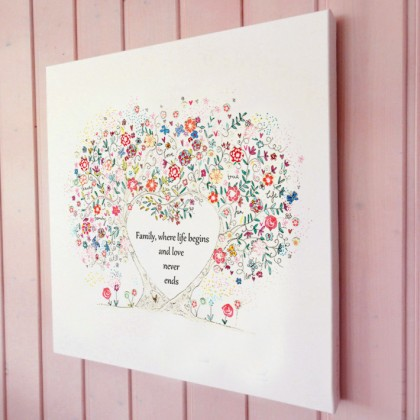 Family Tree illustration canvas print
