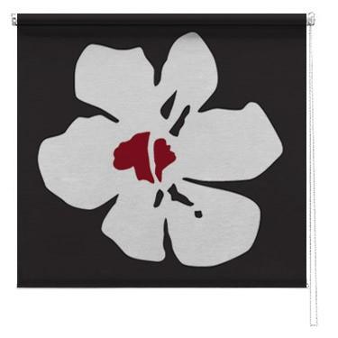 Poppy flower printed blind