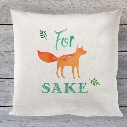 For Fox sake quote linen cushion