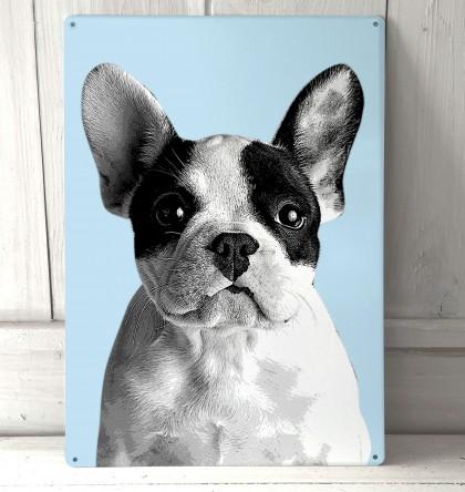 French Bulldog metal sign