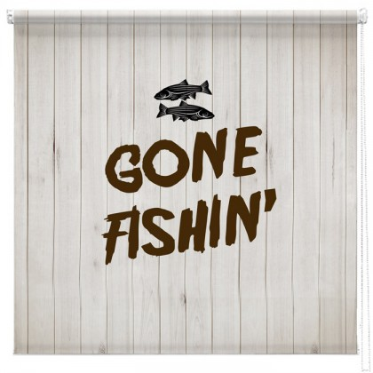 Gone Fishin' printed blind