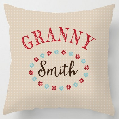 Personalised Granny grandma cushion