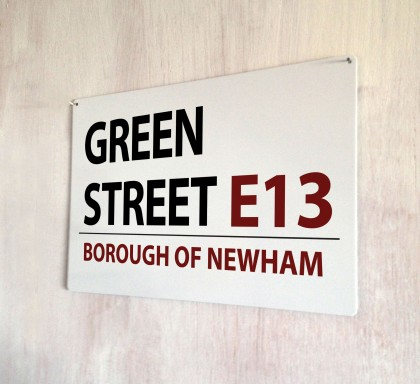Green Street West Ham Street Sign