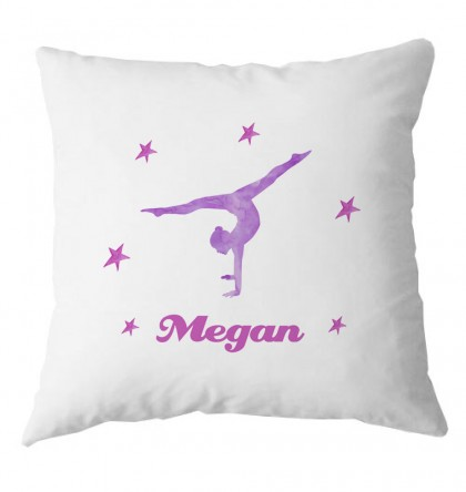 Personalised Gymnastics childrens cushion