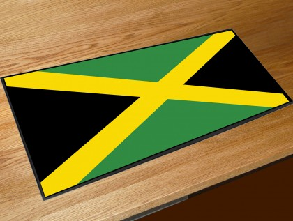 Jamaica flag bar runner