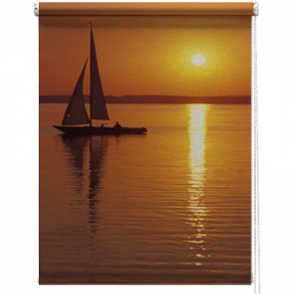 Sailing boat printed blind