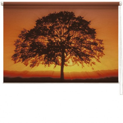 Sunset Tree printed blind
