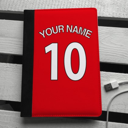 Red football shirt personalised ipad mini case