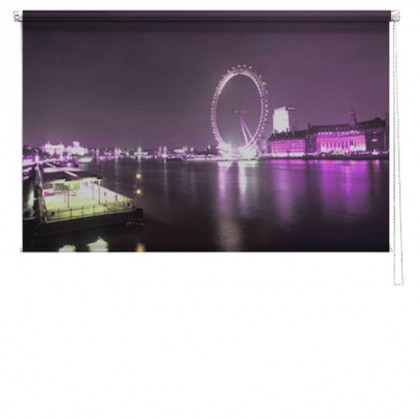 London 2 eye printed blind