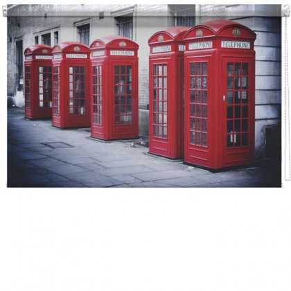 London Red phone boxes printed blind