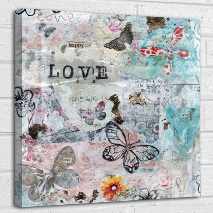 Happy Love quote canvas art