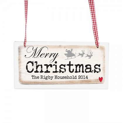 Merry Christmas personalised Wooden Sign