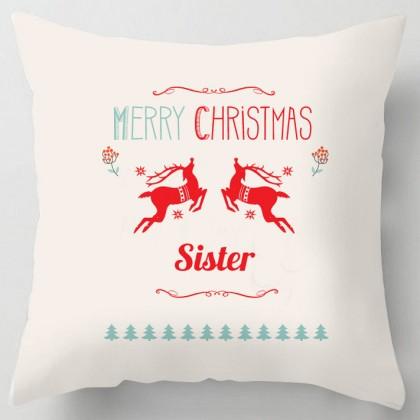 Merry Christmas Sister cushion