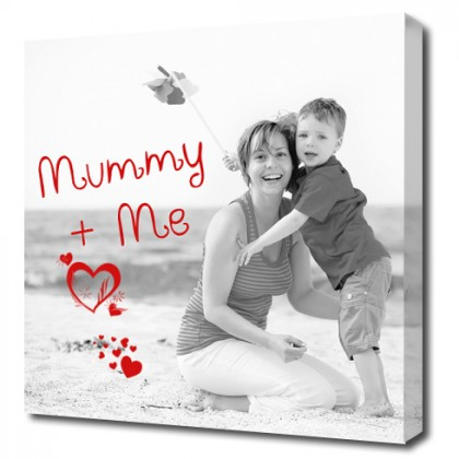 Photo and personalised words on Canvas