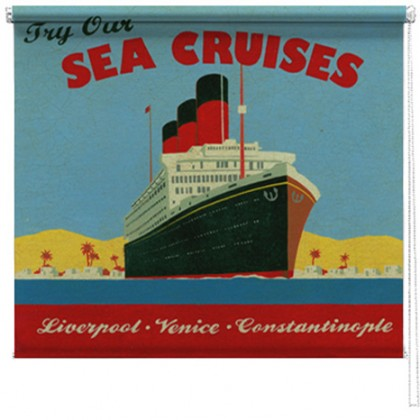 Sea Cruise ship printed blind martin wiscombe