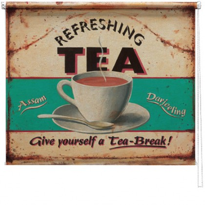 Refreshing Tea printed blind martin wiscombe