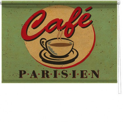 Cafe Parisan printed blind martin wiscombe