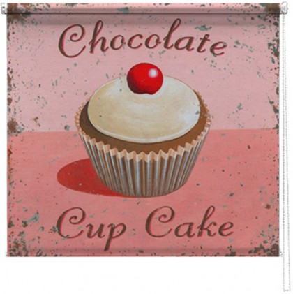 Chocolate cupcake printed blind martin wiscombe