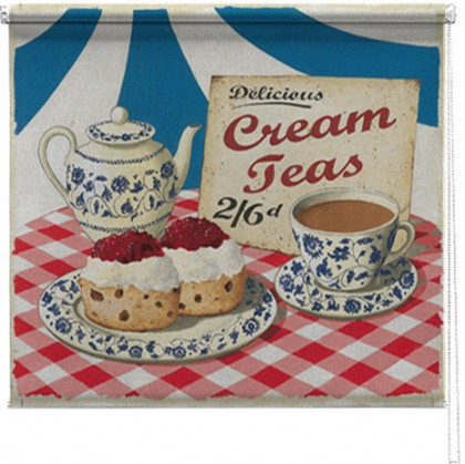 Cream Teas printed blind martin wiscombe