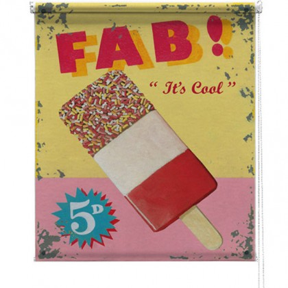 Fab Ice Lolly printed blind martin wiscombe