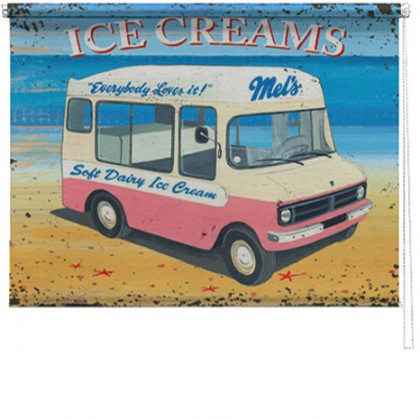 Ice Cream van printed blind martin wiscombe