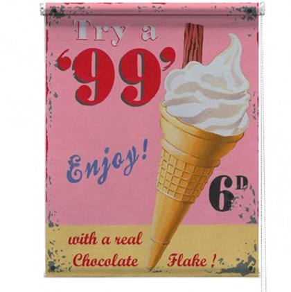 99 Ice cream printed blind