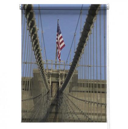 New York bridge printed blind
