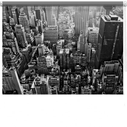 New York skyline view printed blind