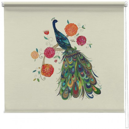 Beautiful Peacock printed blind
