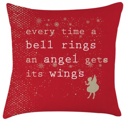 Christmas Angel quote cushion