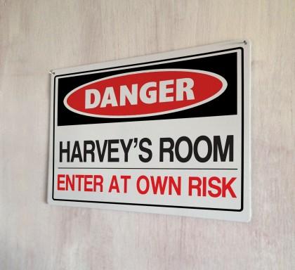 Personalised Danger Sign