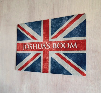 Personalised Union Jack Sign