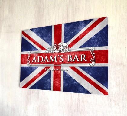 Personalised Union Jack bar sign