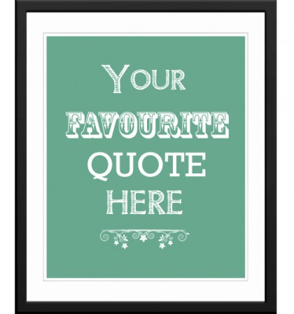 Personalised words / quote art print or canvas