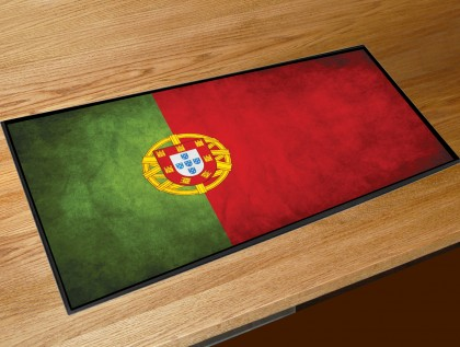 Portugal flag bar runner