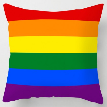 Rainbow flag cushion