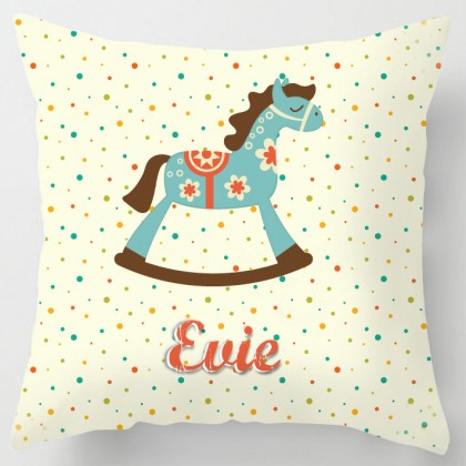 Personalised Rocking Horse cushion