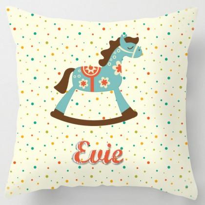 Personalised Rocking Horse cushion