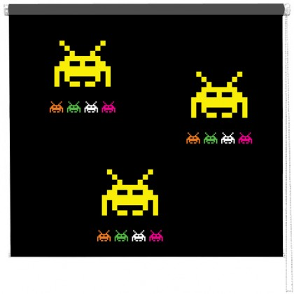 Space Invaders Retro Gamer pattern blind