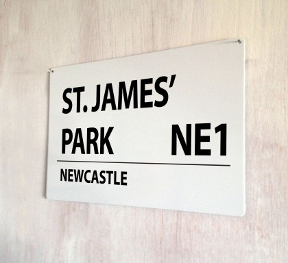 St. James' Park Newcastle Street Sign