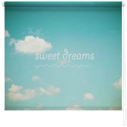 'Sweet dreams' quote printed blind