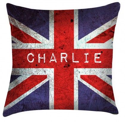 Personalised Union Jack cushion