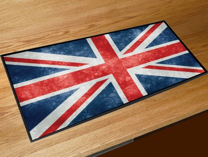 Union jack flag bar runner
