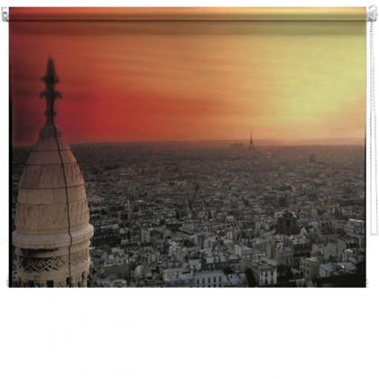 Paris vintage printed blind