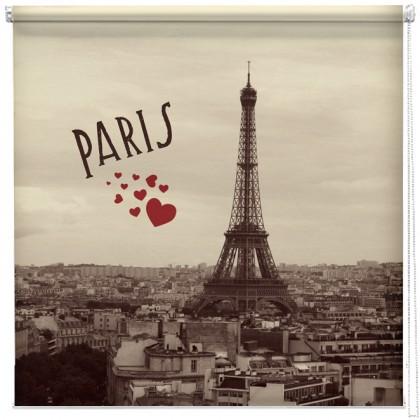 Vintage Paris postcard printed blind